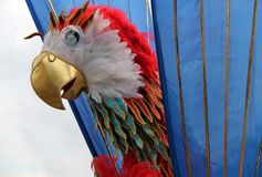 Carnival Parrot Headdress. Royalty Free Stock Images