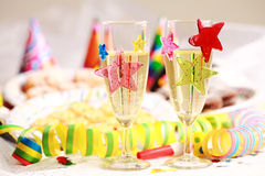 Carnival party. Party accessories for New Year Eve, birthday party or carnival Royalty Free Stock Images