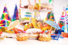 Carnival party. Party accessories for New Year Eve, birthday party or carnival Royalty Free Stock Image