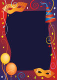 Carnival party background frame. Royalty Free Stock Image