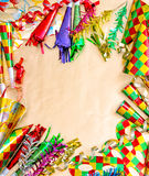 Carnival party decorations. Holidays background. Venetian mask f Stock Photos