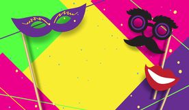 Carnival Party Festive poster Mardi Gras, Brazilian Festival sign template vector. 2019 Carnival festive posters set. Musicians, confetti fireworks, mask vector illustration