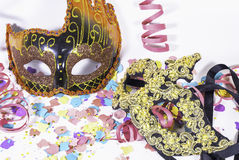 Carnival party items Stock Photography