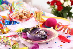 Carnival and party place setting Stock Photography