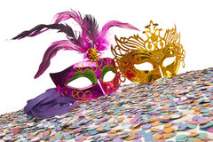Carnival Party Props. On white background Royalty Free Stock Photos