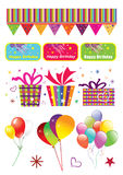 Carnival party set Stock Photography