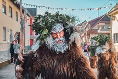 Wild man with white beard. royalty free stock image
