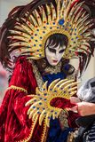 Carnival, the party time in Venetia, Italy royalty free stock images