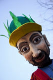 Carnival pasteboard creature. Close up of a carnival pasteboard creature Stock Photography