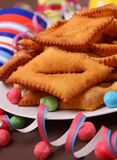 Carnival pastry Stock Photos