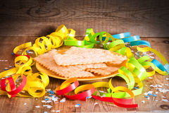 Carnival pastry. Royalty Free Stock Photo