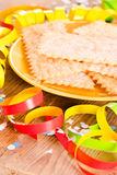 Carnival pastry. Stock Images