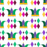 Carnival pattern. Decorative seamless pattern for carnival. Happy Mardi gras.Vector Stock Images