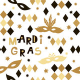 Carnival pattern. Decorative seamless pattern for carnival. Happy Mardi gras.Vector Royalty Free Stock Images