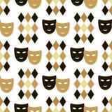 Carnival pattern. Decorative seamless pattern for carnival. Happy Mardi gras.Vector Stock Image