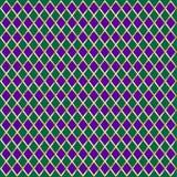 Carnival pattern. Carnival, Festival, Masquerade Mardi Gras checkered rhombus geometric seamless pattern, invitation layout design. Diamond Vector illustration Stock Images