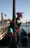 Carnival person in costume, Venice Royalty Free Stock Image