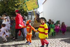 Carnival in Portugal stock images
