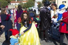 Carnival in Portugal stock photo