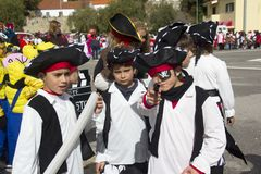 Carnival in Portugal royalty free stock images
