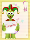 Carnival postcard Royalty Free Stock Images