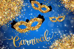 Carnival poster with blue background Stock Photos