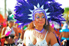 Carnival Queen. Dancing in the Batabano festival Stock Photo