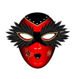 Carnival red black mask Stock Photography