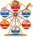 A carnival ride with animals Royalty Free Stock Images