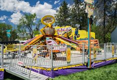 Carnival Ride at the Annual Dogwood Festival royalty free stock photography