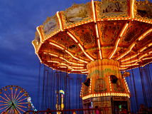 Carnival Ride at Dusk Royalty Free Stock Photos