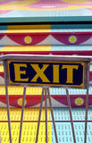 Carnival Ride Exit Sign Royalty Free Stock Photo