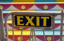 Carnival Ride Exit Sign Royalty Free Stock Photography