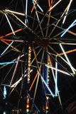 Carnival ride lights. From the center of the Merry-go-round Stock Images