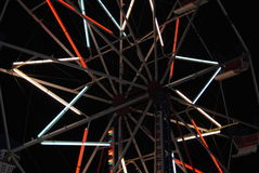 Carnival ride lights. From the Merry-go-round Stock Image