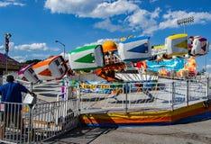 "Free Carnival Ride Named ""Hang Ten"" Stock Images - 73745094"