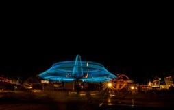 Carnival ride at night Royalty Free Stock Photos