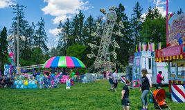 Free Carnival Rides At The Annual Dogwood Festival Stock Image - 116041641