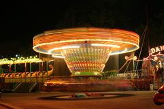 Carnival rides at night Stock Image