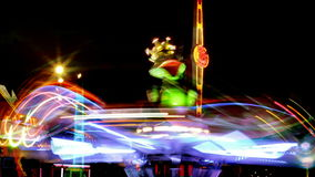 Carnival rides at night stock footage