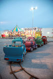 Carnival Rides at Twilight Royalty Free Stock Photos