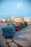 Carnival Rides at Twilight Royalty Free Stock Photos