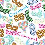 Carnival rio colorful pattern masks design seamless pattern Royalty Free Stock Images