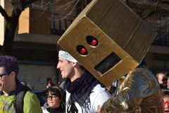 Carnival - robot music dance group Stock Images