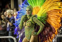 Carnival Samba Dancer Brazil - Lanna Moraes Royalty Free Stock Photos
