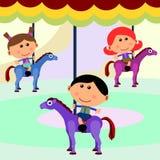 Carnival scene carousel Royalty Free Stock Image