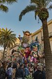 CARNIVAL OF SCIACCA, SICILY royalty free stock photo