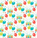 Carnival seamless pattern. Purim repetitive texture. Holiday, masquerade, festival, birthday party. Endless background vector illustration