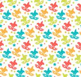 Carnival seamless pattern. Purim repetitive texture. Holiday, masquerade, festival, party. Endless background, backdrop. Wallpaper paper Vector illustration Royalty Free Stock Image