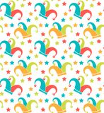Carnival seamless pattern. Purim repetitive texture. Holiday, masquerade, festival, party. Endless background, backdrop vector illustration